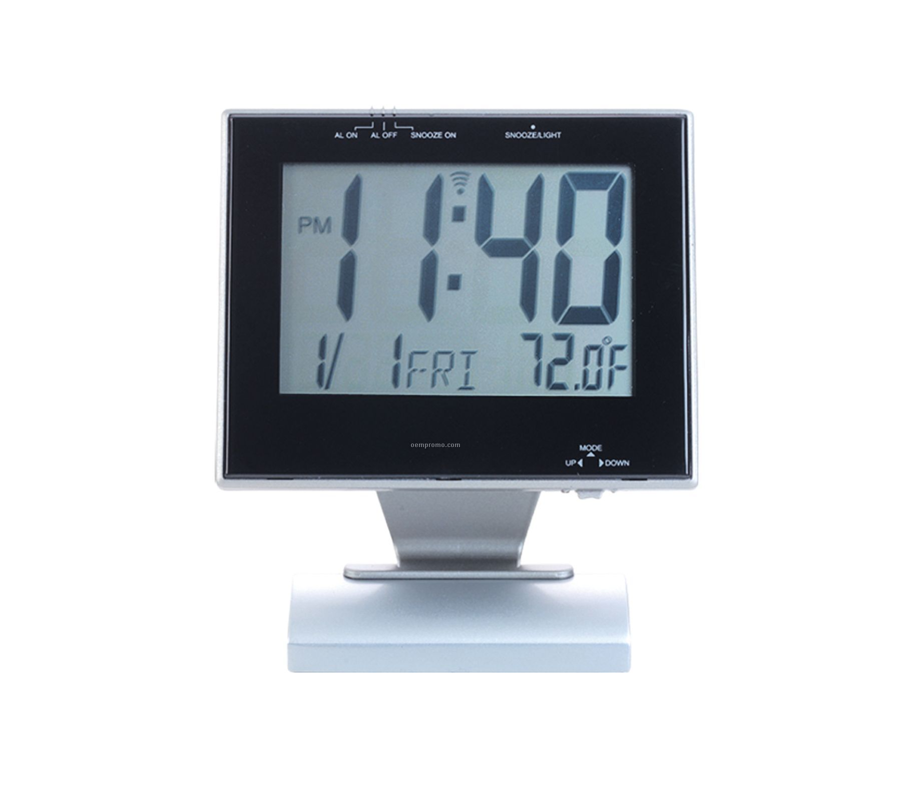 Silver Multi Functional Desk Alarm Clock