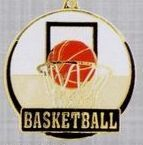 "2"" Color-filled Stock Medal - Basketball"