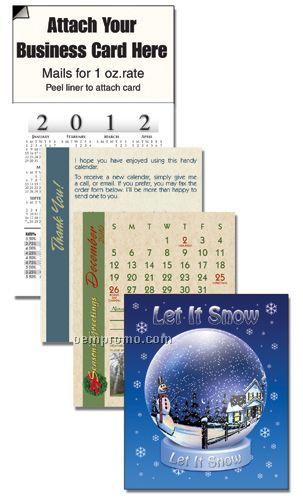 2011 Snow Globe Cover 13 Month Realtor Calendar