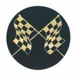 "Black / Gold Hologram Mylar Insert - 2"" Racing Flags"