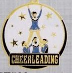 "2"" Color-filled Stock Medal - Cheerleading"