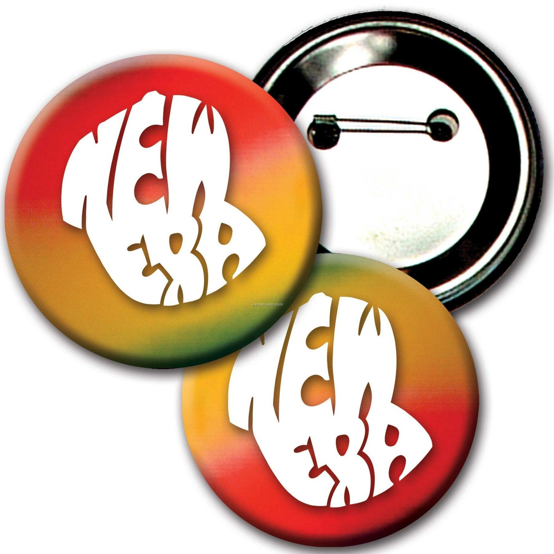 "3"" Diameter Buttons W/Changing Colors Lenticular Effects (Imprinted)"