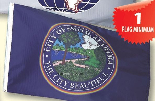 Custom Printed Calescent Dyed Flags (51 To 100 Sq. Ft.)