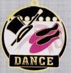 """2"""" Color-filled Stock Medal - Dance"""