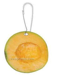 Cantaloupe Zipper Pull
