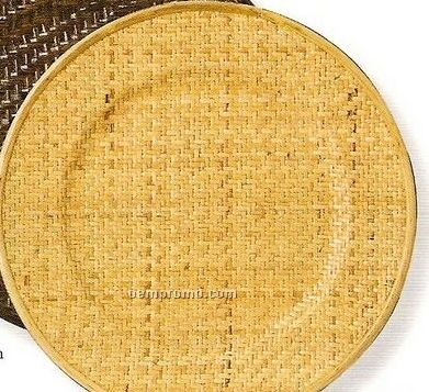 Elegance Lifestyle Rattan/ Natural Brown Round Charger - Set Of 4
