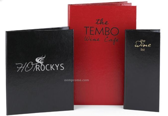 """Majestic Vicuna Menu Cover - Two View/Book (4 1/4""""X11"""")"""
