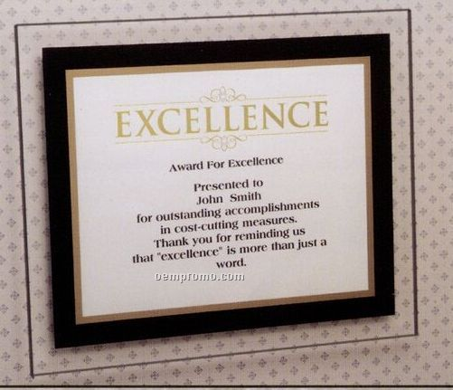"Windows Of Recognition Frame W/ Black & Gold Border (8-1/2""X11"")"
