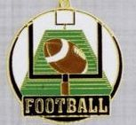 "2"" Color-filled Stock Medal - Football"