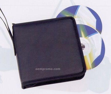 24 Piece CD/ DVD Holder W/ Full Zippered Closure