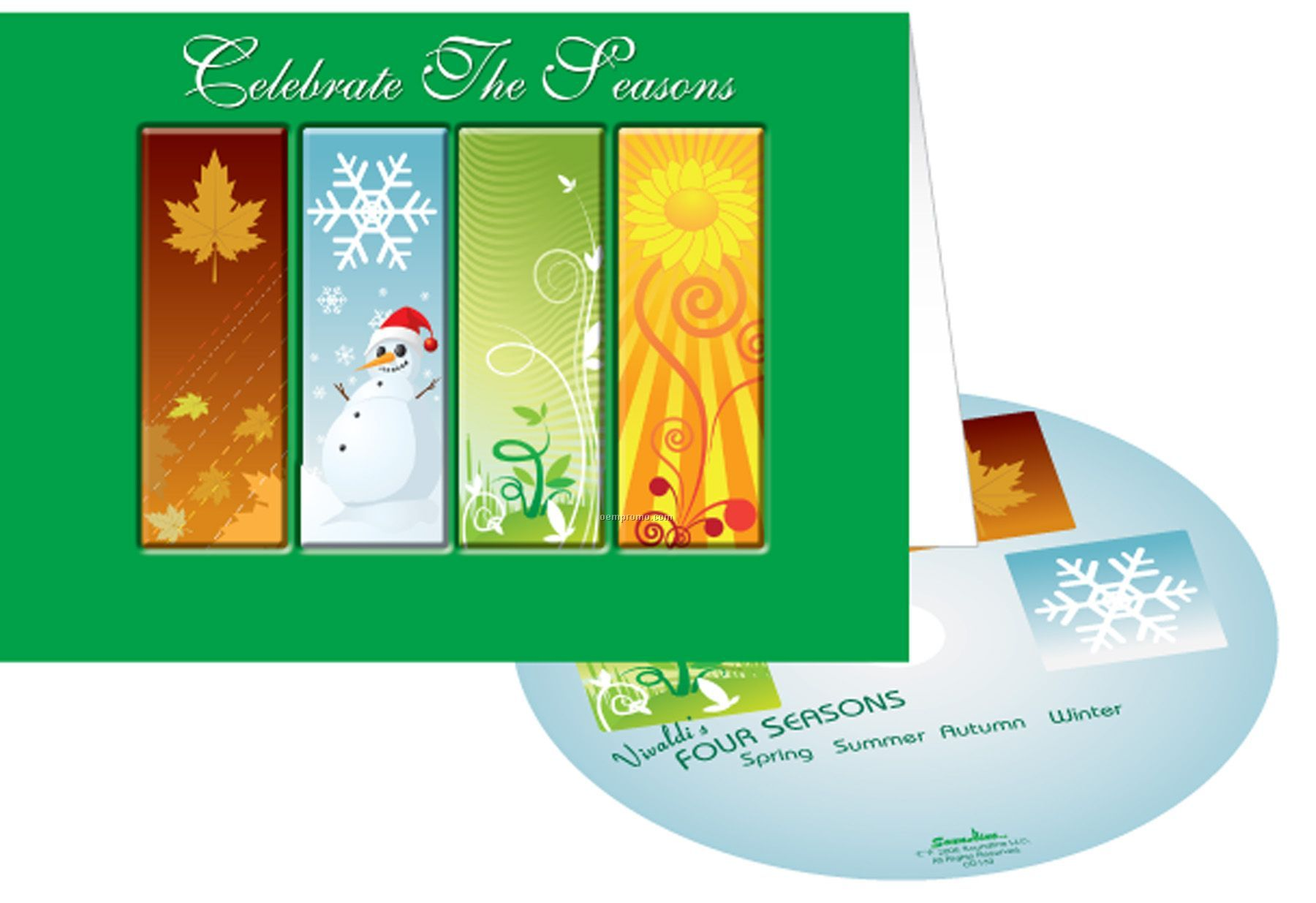 Celebrate the four seasons greeting card w matching cdchina celebrate the four seasons greeting card w matching cd kristyandbryce Image collections