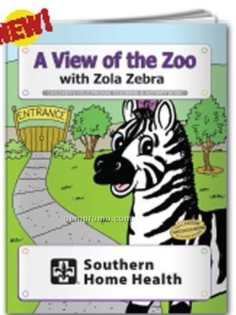 Coloring Book - A View Of The Zoo W/Zola Zebra