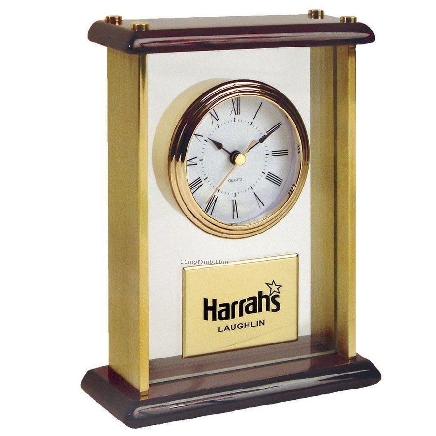 Piano Wood & Acrylic Clock