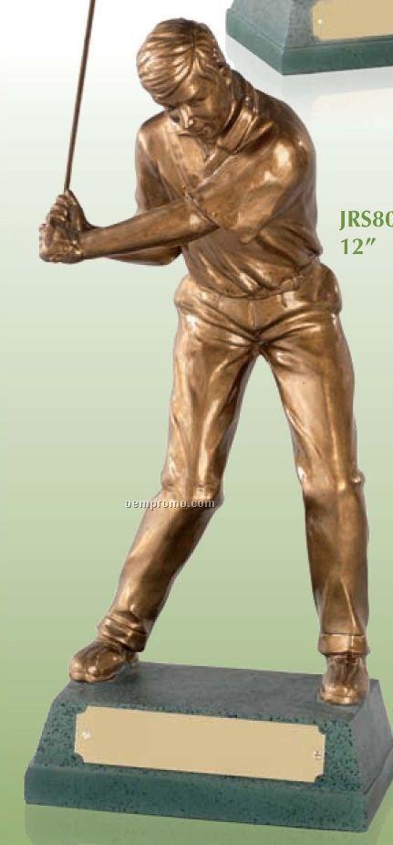"Signature Mid Swing Male Golfer Award /12"""