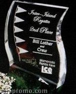 """Verde Gallery Crystal & Marble Rio Verde Award (7"""")"""