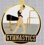 """2"""" Color-filled Stock Medal - Female Gymnastics"""