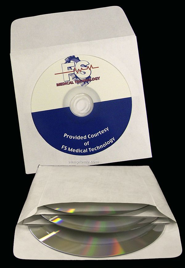 2-pocket Tyvek Multi-disc Media Window Envelope