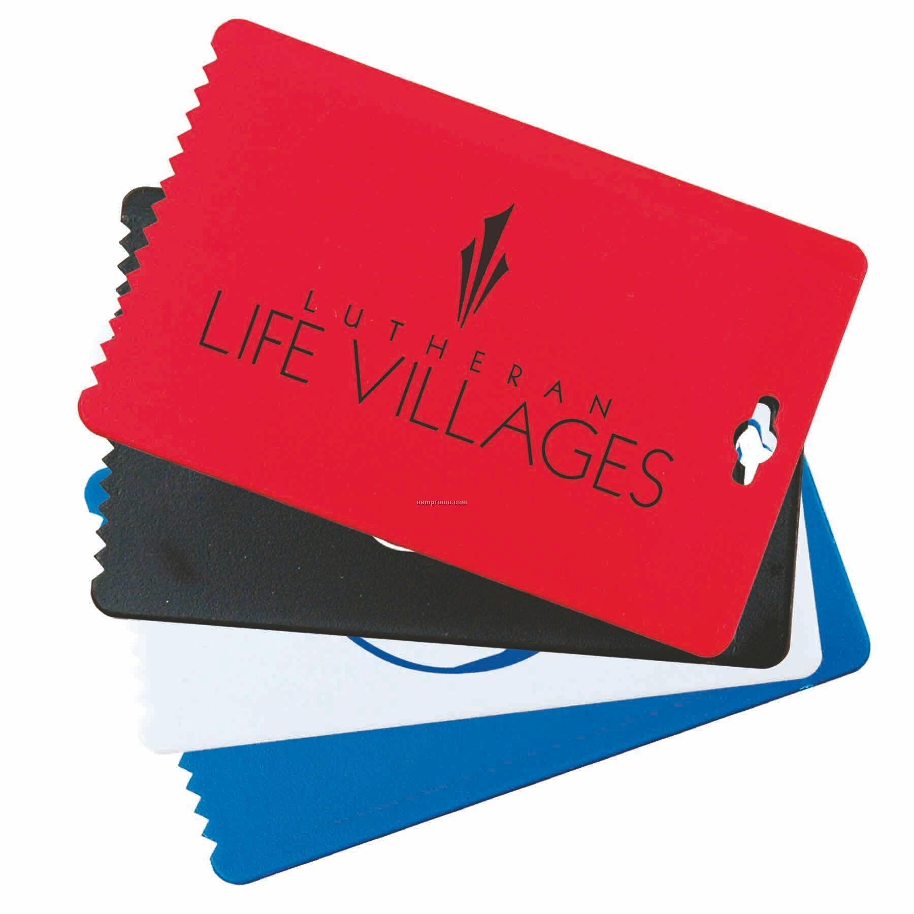 Business Card Ice Scraper