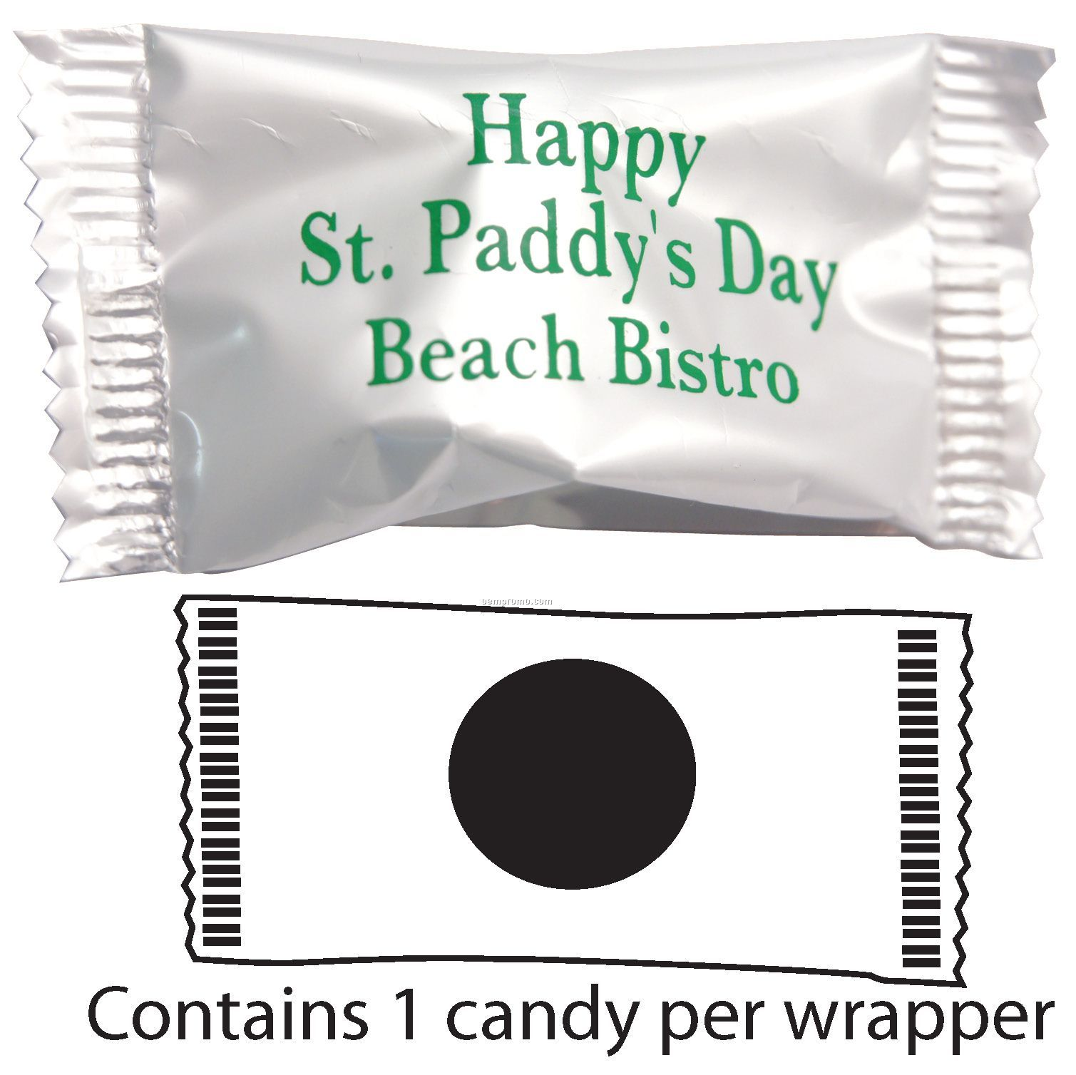 Spearmint Scotch Mints In White Or Clear Wrapper