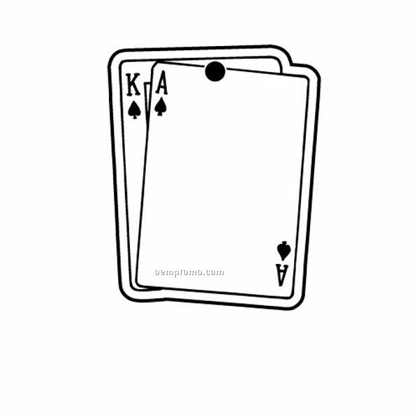 Stock Shape Collection Ace & King Playing Cards Key Tag