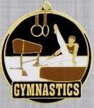 "2"" Color-filled Stock Medal - Male Gymnastics"