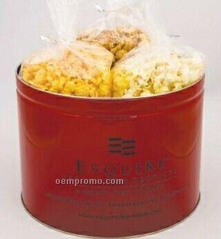 2 Gallon Butter Popcorn Tin