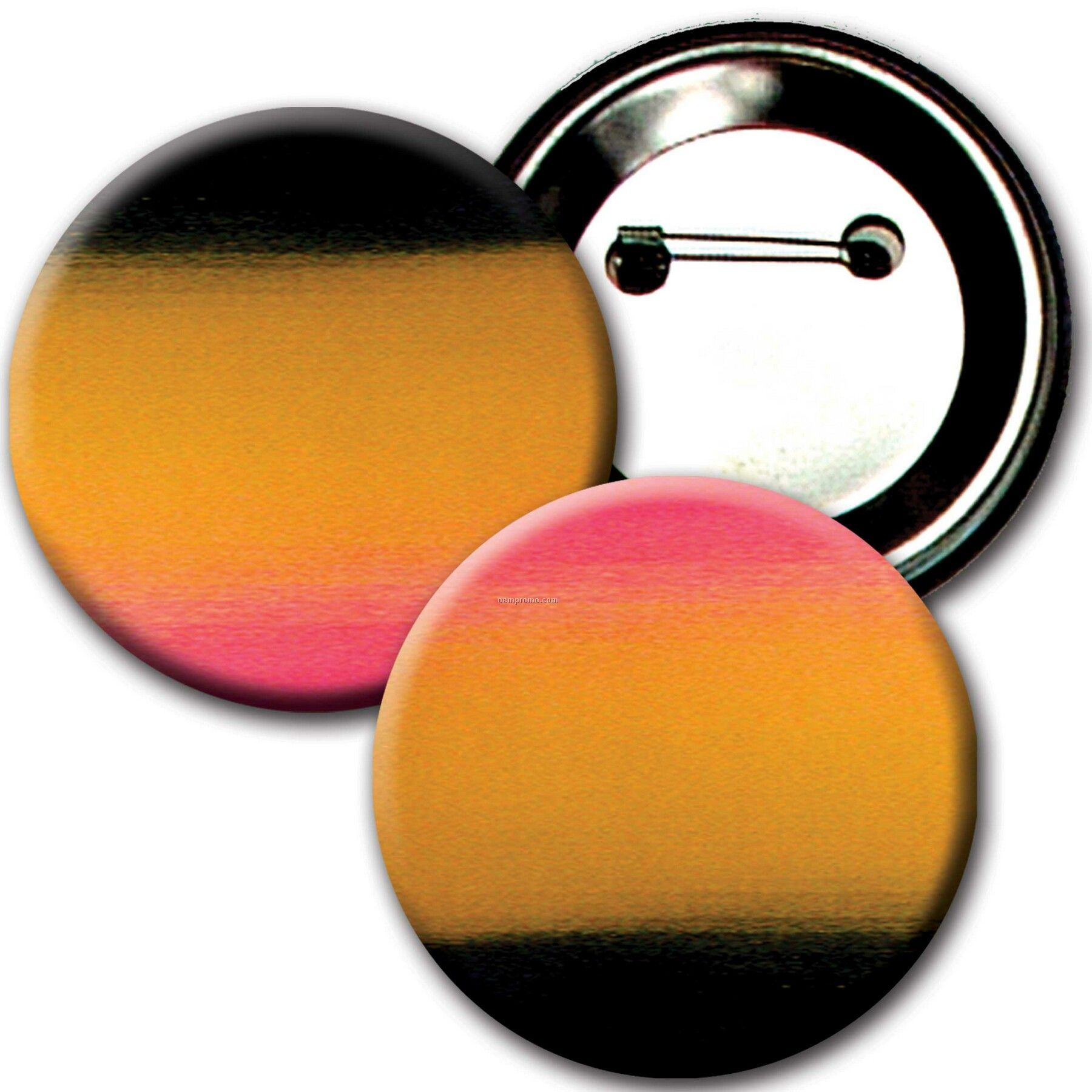 """3"""" Diameter Buttons W/Changing Colors Lenticular Effects (Blanks)"""