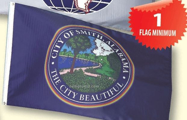 Custom Printed Calescent Dyed Flag (401 To 500 Sq. Ft.)