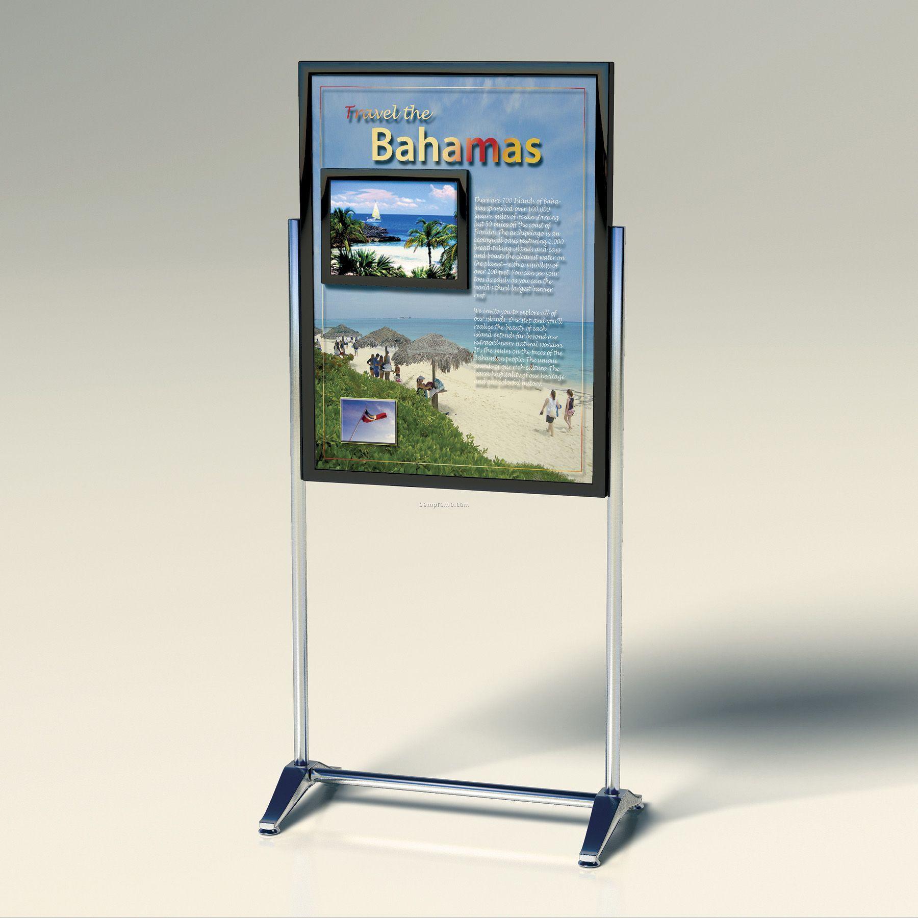 "Freestanding Poster Digital Advertising Display W/ 15"" Screen"
