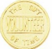 "1-1/4"" Success Line Motivational Coin - Volunteer The Gift Of Time"