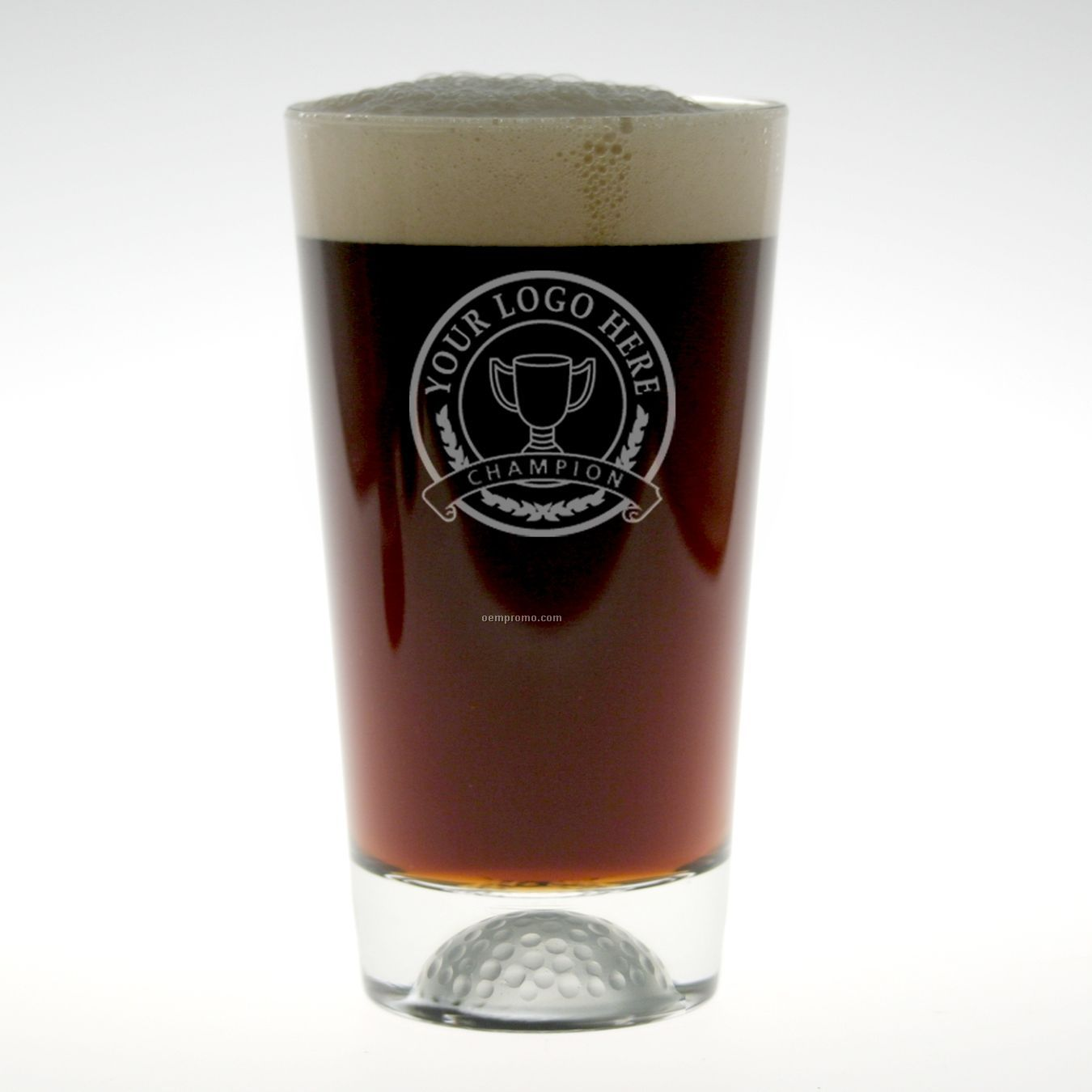 16 Oz. Fore Ale Glass (Set Of 2 - Deep Etch)