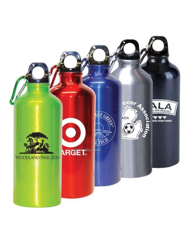22 Oz. Aluminum Sport Bottle W/ Carabiner