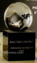 """6"""" Glass World Globe Book Ends Award"""