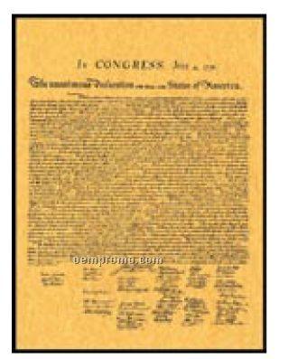 "Declaration Of Independence Document - Original (11""X14"")"