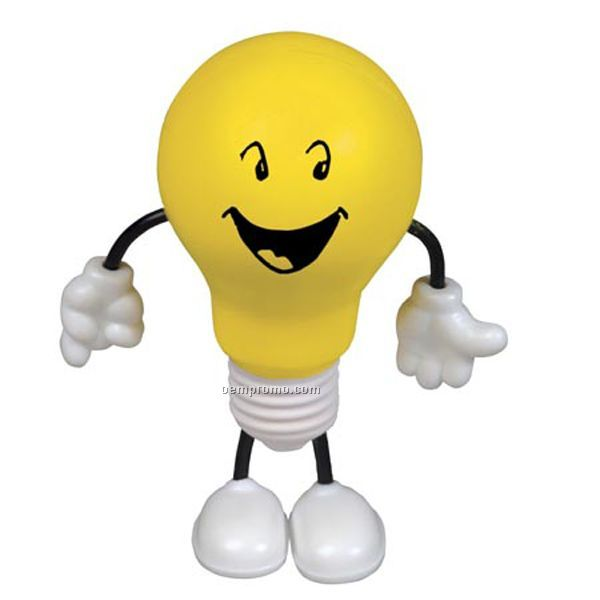 Lightbulb Figure Squeeze Toy
