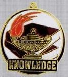"2"" Color-filled Stock Medal - Knowledge"