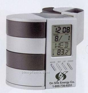 2 Tone Cubicle Caddy W/ Digital Clock