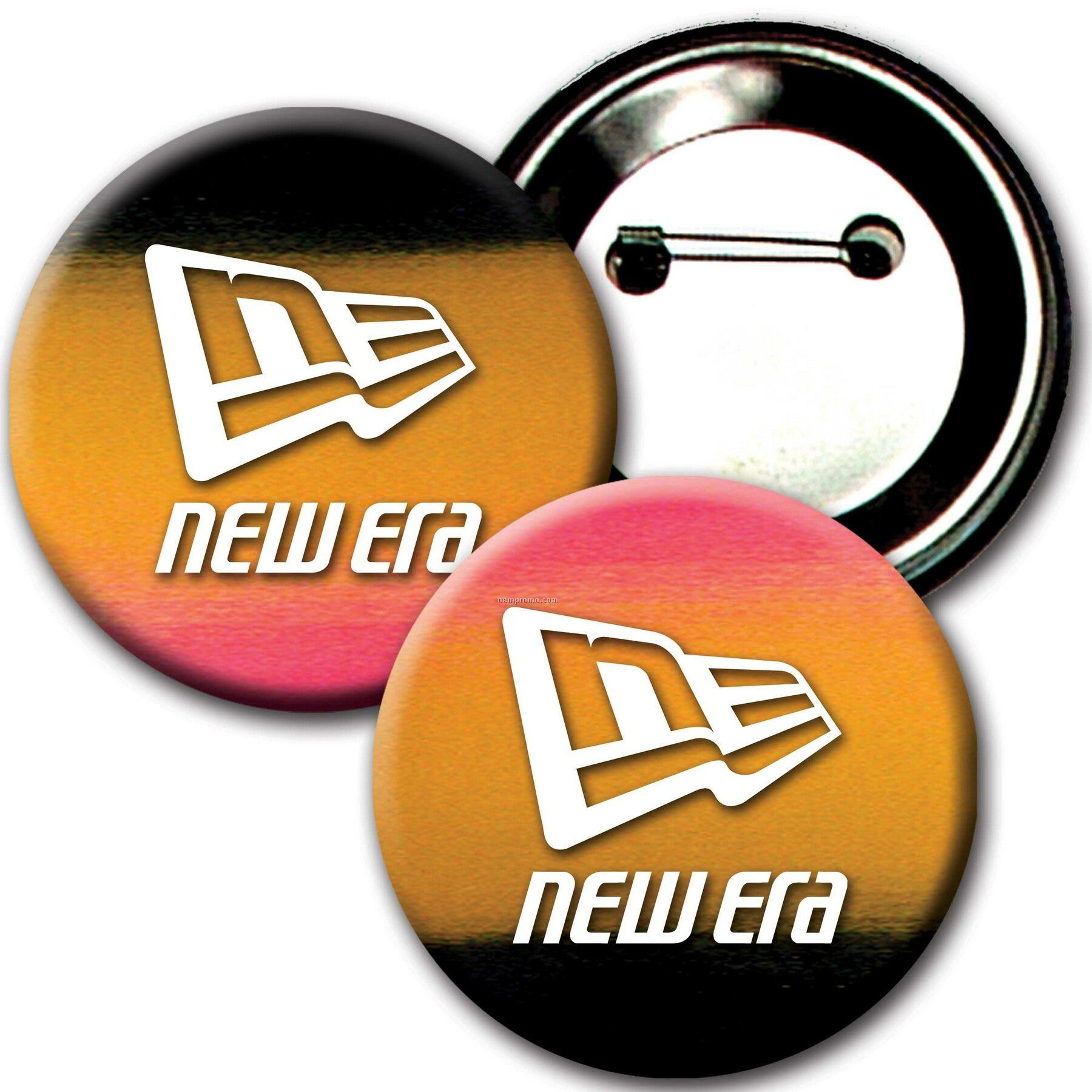 """3"""" Diameter Buttons W/Changing Colors Lenticular Effects (Imprinted)"""