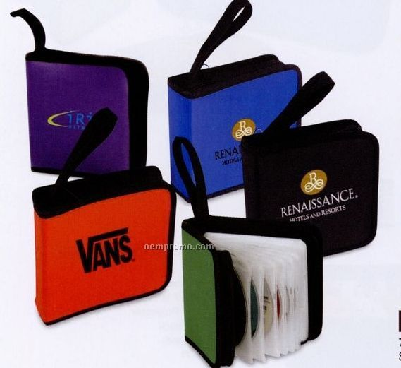 Compact 12 Sleeve CD DVD Holder