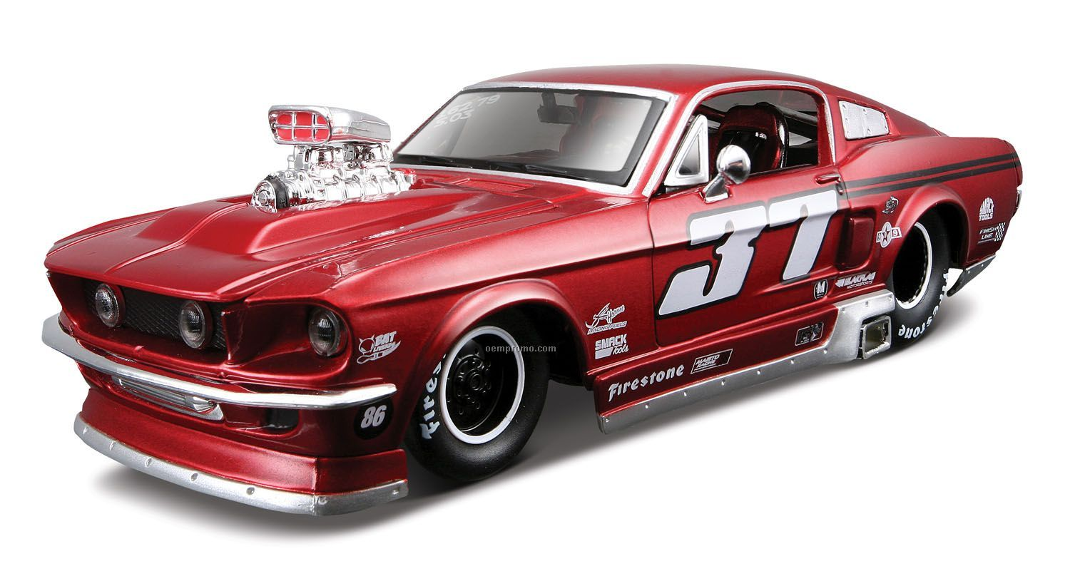 """7""""X2-1/2""""X3"""" 1967 Ford Mustang Gt All Star Series Die Cast Replica"""