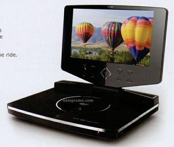 """Portable DVD Player With Swivel Screen/ 10.2"""" Widescreen"""