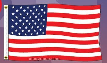 Stock Us Polyester Flag (2'x3')
