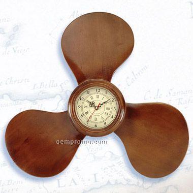 """23"""" Wooden Propeller Clock(Laser Engraved)"""