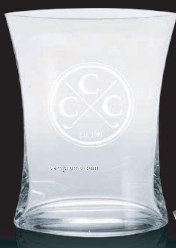 "Curved Lead Crystal Vase Award / 8"""