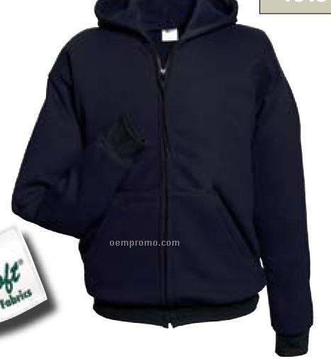 Indura Ultra Soft Fleece Full Zip Hooded Sweatshirt (Navy)