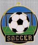 "2"" Color-filled Stock Medal - Soccer"
