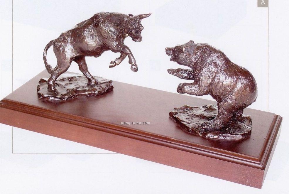Battling Titans Set - Bull & Bear Sculpture