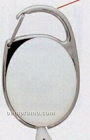 Carabiner Style Retractable Badge Reel W/ Metal Slip Clip Back (Blank)