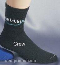Custom Jacquard Embroidered Crew Socks (5-13)