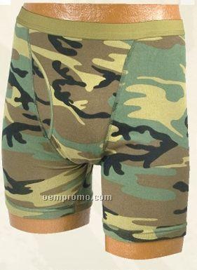 Men's Woodland Camouflage Gi Boxer Brief Underwear
